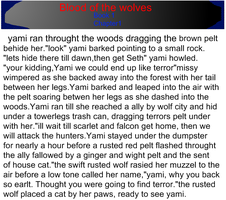 blood of the wolves part 3 by QueenYami