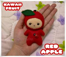 Kawaii Red Apple by SongAhIn