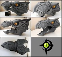 Halo Skirmisher Head Cast W.I.P. by Zercon