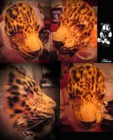 Amur leopard mask comission by SnowVolkolak