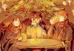 The Three Broomsticks by poiv