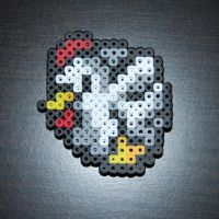 Bead Sprite - LoZ Chicken by SugarCubeCreations