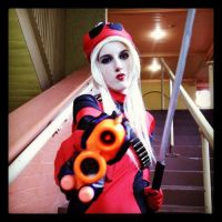 My lady deadpool cosplay complete at Oz comic con! by kimmyragefire