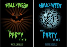 Partyflyer 2 for Halloween by Chrisdesign