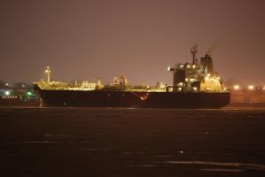 Leaving cargo ship by Swatmax