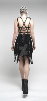 Braided Leather Strap Dress Photoshoot (Back View) by C-Donald-Amos-F