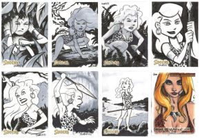 SHEENA sketchcards 04 by thecheckeredman