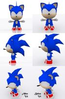 Chibi Sonic Comparison by andril