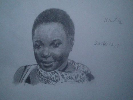 practice of black woman in charcoal by Perrolobo95