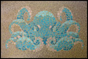 Octopus Mosaic by radioactive-orchid