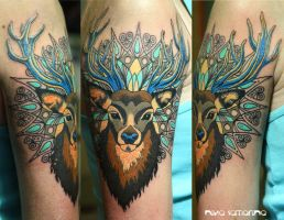 ornamental deer by NikaSamarina