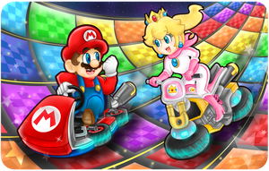 .:Going around over the rainbow road:. by CloTheMarioLover