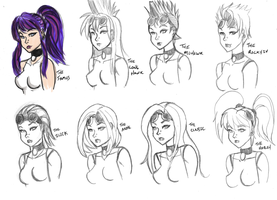 Technical Support Hairstyles 02 by kaioutei