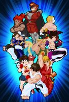 Street Fighters by trav-mcdan