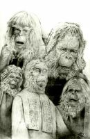 Classic Planet Of The Apes Fan Art Pencil Drawing by Blakefx