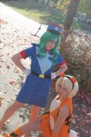 Officer Jenny and Growlithe by CheesyHipster