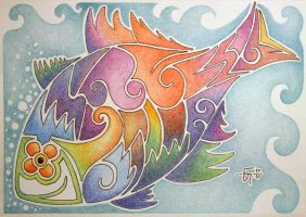Sketchbook 09 Colored Fish by Jose-Garel-Alvoeiro