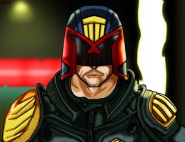 Karl Urban Judge Dredd fan-art by unknownguyver81