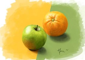 Marker Rendering - Fruit by lihualicious