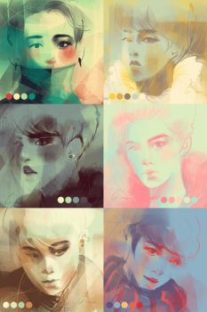 Color Meme: EXO-M by emametlo