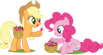Applejack and Pinkie - Making Chimicherry Changas! by MysteriousKaos