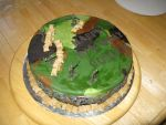 Army men cake-top view by Sumrlove