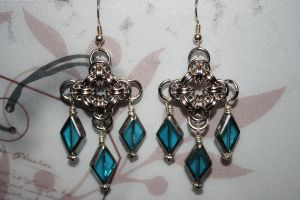 Chainmail Chandelier Earrings by Jentalgirl