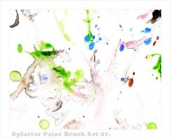 C-M Splatter Brushes 001 by crowned-meadow