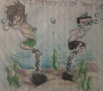 Trent and Duncan drowning in their underwear by skatergirl747