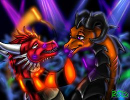 Thorn and Xena's Rave by DragonCid