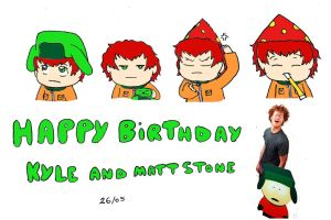 happy birthday Kyle and Matt Stone by sweetgirl-Liza