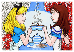 Alice Vs Alice Afternoon Tea by tea-bug