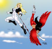 Ultrawoman vs T-Bird by Hulkdaddyg by THE-Darcsyde