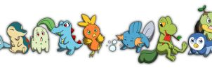 Starter Pokemon by ChloePawprintz