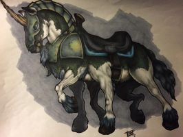 WoW Alliance race themed mount (Night Elves) by Igmumato