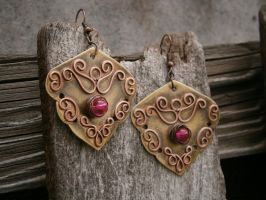 Lace Earrings by twistedjewelry