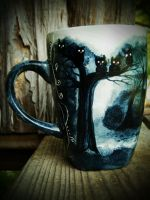 The Dark Trail - Handpainted Mug by InkyDreamz