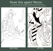 Draw this again meme - imagination by ProudToSketch