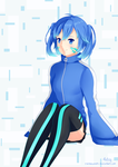 Ene in a Cyber World by rainbownote
