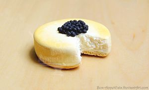 Miniaure Blueberry Cheesecake Magnet by Bon-AppetEats