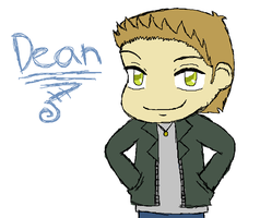 Dean Winchester Colored by Heartiful