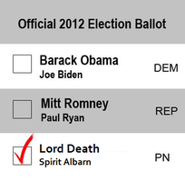 Lord Death For President by LetsBecomeMemories