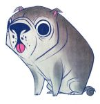 Dumb Pug by betsybauer