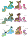 BREED VARIATIONS: Gastrodon by xIce-Wolf