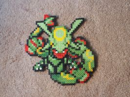 Perler Sprite: Rayquaza by DaCyanWaffle123