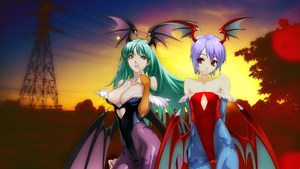 Morrigan and Lilith[1] by Light-Rock