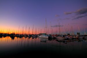 sunset on the harbour 2 by RYZ00