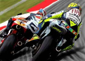 Rossi Vs. Pedrosa by LuckyNo4