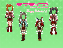 Love Live! Paper Dolls - Valentine's Day 1 by EternallyOptimistic