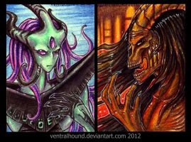 ACEO trades by VentralHound